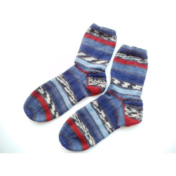 Hand knit casual men socks, knit wool socks, Wool socks, Winter socks,... ($35) ❤ liked on Polyvore featuring men's fashion, men's clothing, men's socks, mens socks, mens wool socks and mens woolen socks