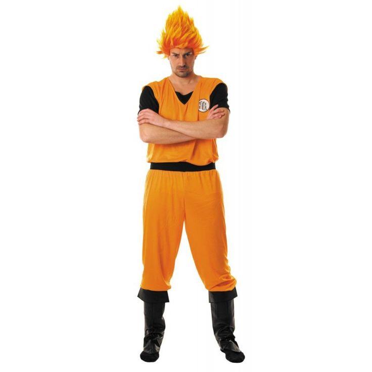 Ce déguisement de Sangoku, héros du manga Dragon Ball z comprend un tee-shirt et un pantalon.