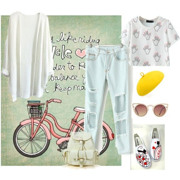 Ready for cycling by letsplaydiy on Polyvore featuring HVBAO and Mademoiselle Slassi