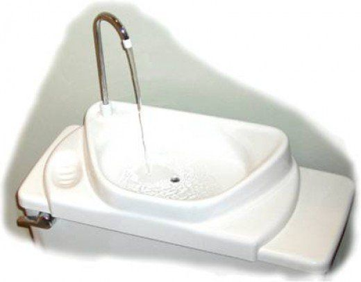 Save water, save money, and have the convenience of a sink where one may not fit by using a toilet sink combo that turns your toilet into a sink.