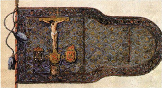 The Holy League banner used at the Battle of Lepanto (1571)