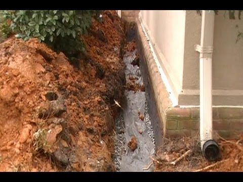 ▶ Waterproof Your Foundation, How To trench , seal wall, add pipe and gravel. Step by Step Install - YouTube