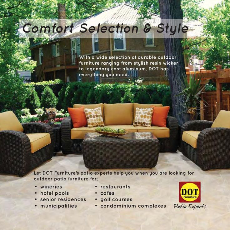 Comfort, Selection And Style Are At The Heart Of DOT Furnitureu0027s Outdoor  Patio Furniture Product