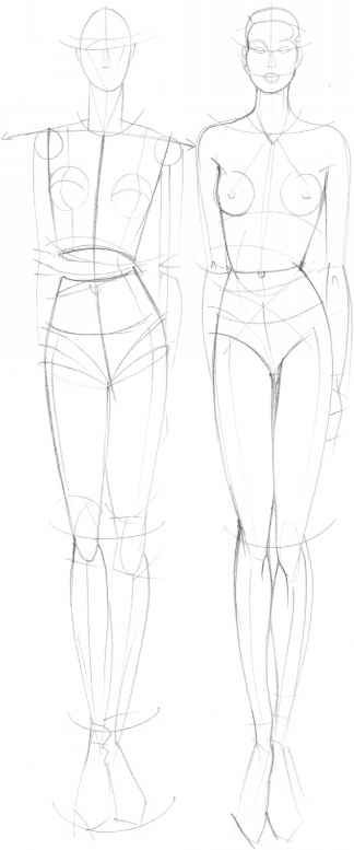 Outline Model For Sketching Clothes | sketching | Pinterest ...