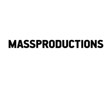 Uppercase sans-serif logotype for Stockholm-based furniture company Massproductions designed by Britton Britton.