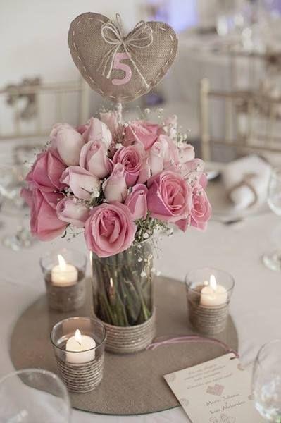 Centro de mesa con velas