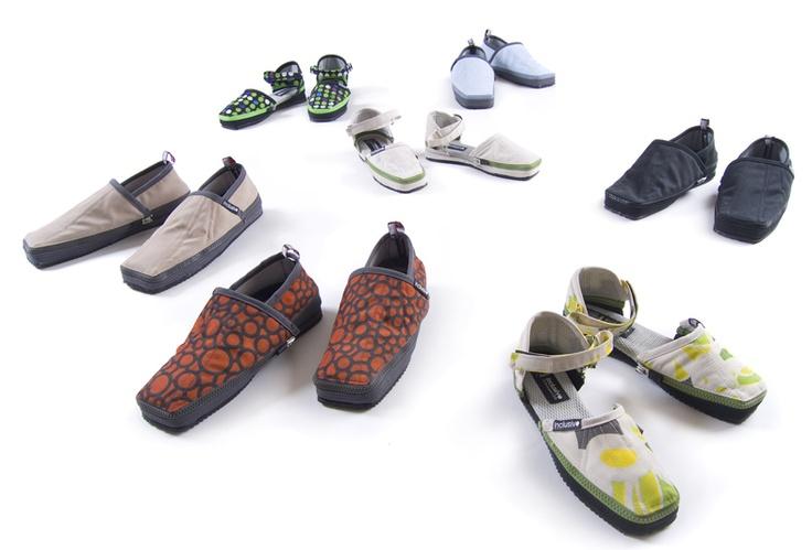 Armo  Zapatos transformables, ideales para viajar de un lugar a otro!  Es un proyecto social producido por familias en situación de pobreza.