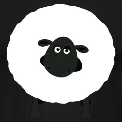 """Shirely the sheep"" Tee, Black, Men"