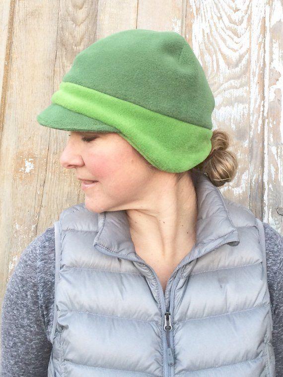 c64195b3 Sage Green Beanie, Earflap Hat, Mossy Green Cap, Women's Fleece Hat, Winter  Hat for Women, Earflap B