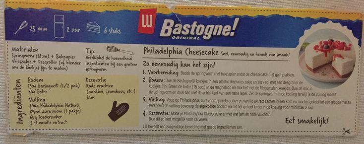 Cheesecake Philadelphia bastogne
