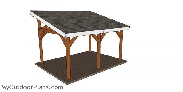 12 16 Lean To Pavilion Plans In 2020 Pavilion Plans Roof Plan Woodworking Plans Free