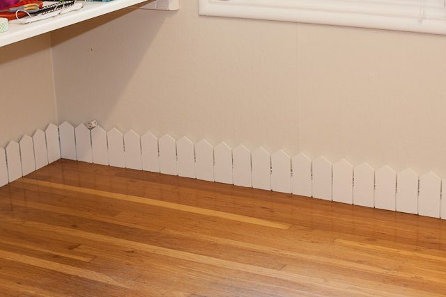 DIY Picket Fence Border and Cord Hider
