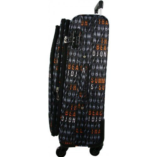 Valise souple DAVID JONES 76cm - BA50121-G - Couleur principale : AFFICHAGE AEROPORT - valise pas cher Promotion - bleucerise.com