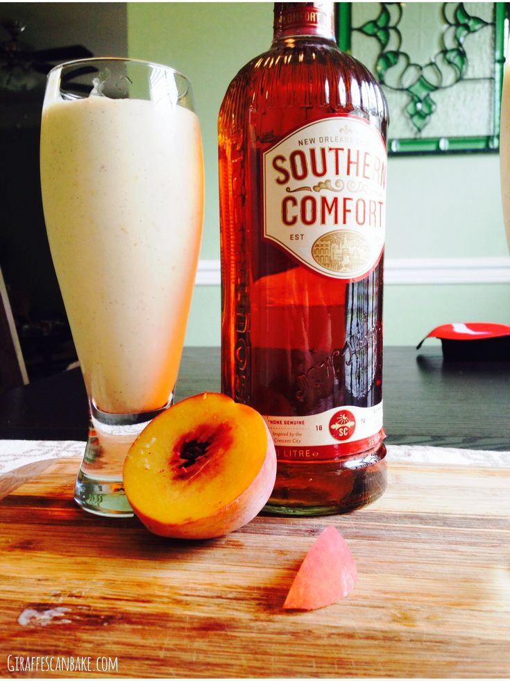 boozy peach milkshakes with caramelised peaches and southern comfort