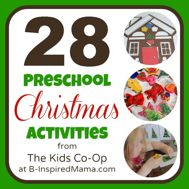 preschool snack ideas | 28 Preschool Christmas Activities from the Kids Co-Op - B-InspiredMama ...
