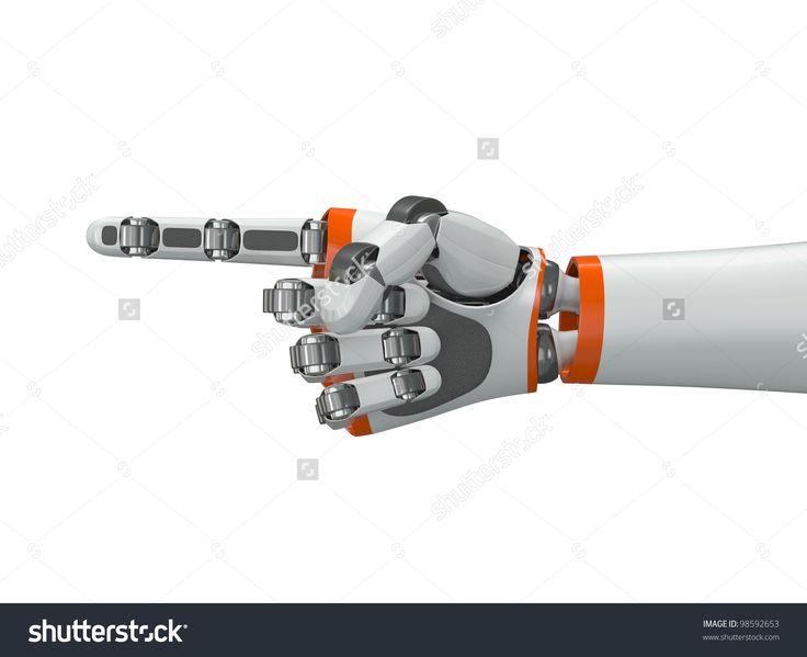 Robot Hand Pointing Index Finger Stock Illustration 98592653 ...