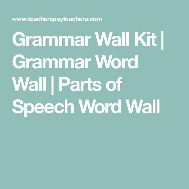 Grammar Wall Kit | Grammar Word Wall | Parts of Speech Word Wall