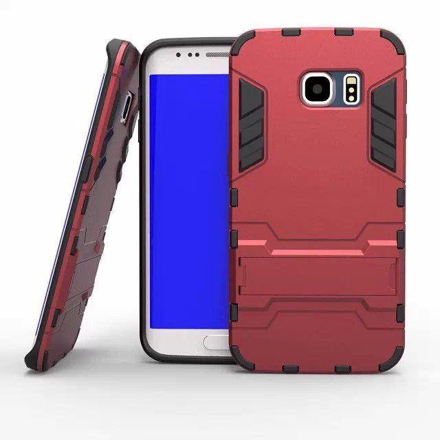 Для Samsung Galaxy S6 G9200 PC + TPU гибридный железный человек щит броня стенд 3D двойной чехол для Galaxy S 6 защитной крышкой держатель