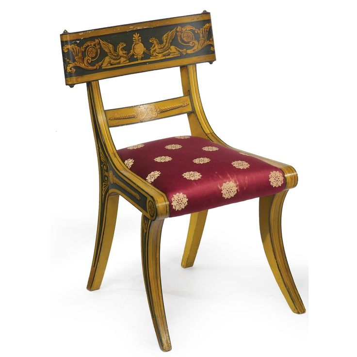 The Lloyd-Trimble Family Fine and Rare Federal Paint-Decorated Klismos Side  Chair, Attributed to John and Hugh Finlay, Baltimore, One of Two. - 8 Best Baltimore Painted Furniture Images On Pinterest Baltimore