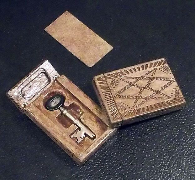 Supernatural working Puzzle Box and bronze Key to the Men of Letters Bunker by scottwheelis on Etsy https://www.etsy.com/listing/185935551/supernatural-working-puzzle-box-and