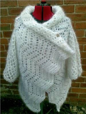 Heidi's Crochet Scrapbook / Haw Frost Shawl Cardigan - free crochet pattern