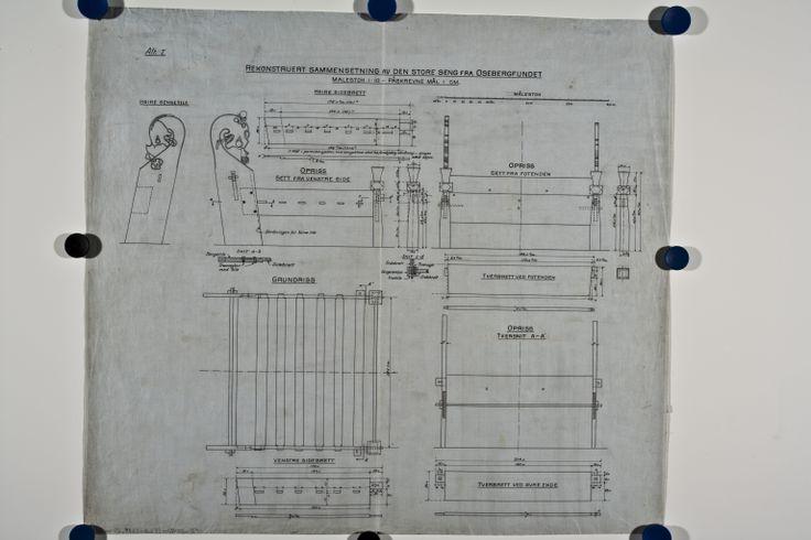 Museum spec drawing - Oseberg big bed