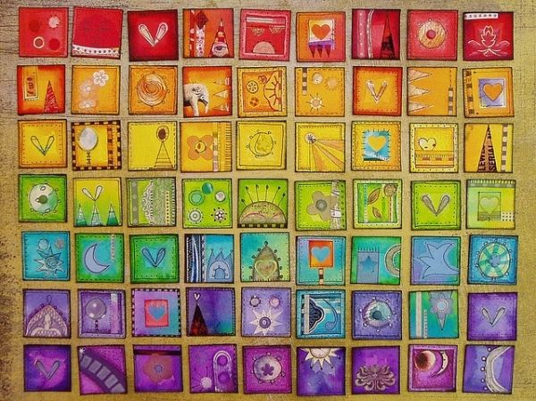 collaborative art projects for kids   Rainbow Inchies - Great collaborative art project! by colette