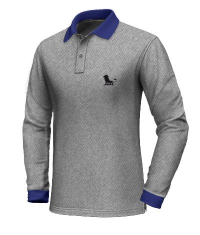 Grey polo shirt with blue collar http://www.tailor4less.com/en-us/collections/custom-polo-shirts/long-sleeve-polo-shirts/grey-polo-shirt-with-blue-collar