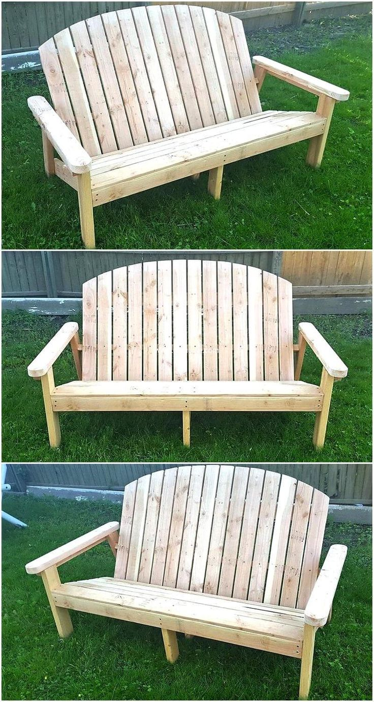 Recycled pallet garden bench is cheapest achievement you can have for your garden. The other advantage is that it needs little skills to craft furniture of your need at your own workshop. You can invite the family members to give ideas in crafting the furniture to turn it to a fun task.