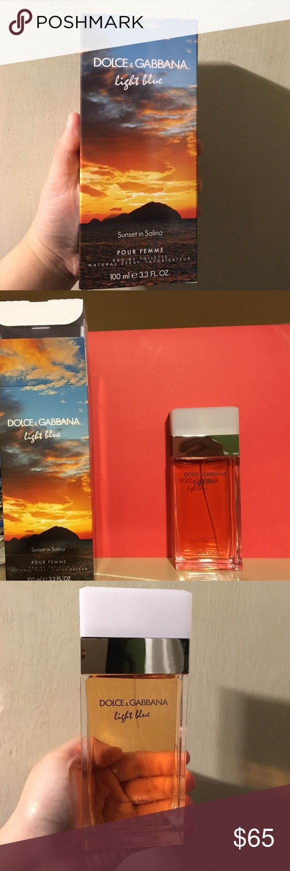 Brand New Dolce and Gabbana Perfume Special edition of Light Blue fragrance. Sunset in Salina, 3.4 ml eau de toilette for Women. Dolce & Gabbana Other