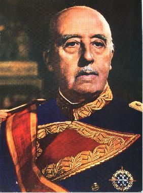 Francisco Franco Bahamonde was a Spanish general and Caudillo de España, (Por la Gracia de Dios) from 1939 until his death in 1975.