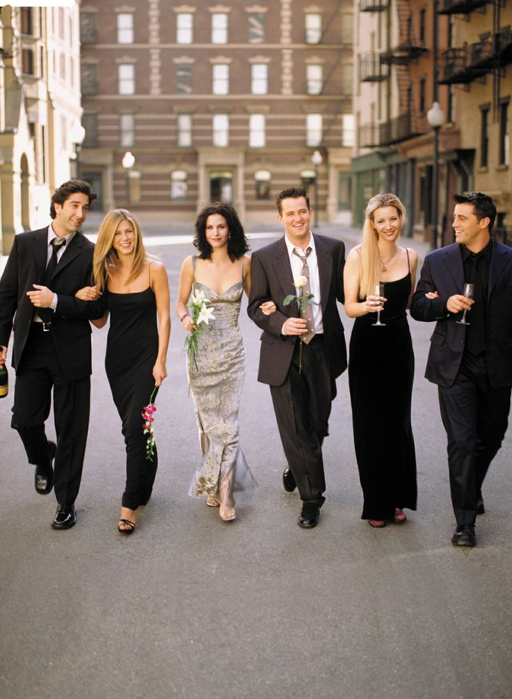 David Schwimmer as Ross Geller Jennifer Aniston as Rachel Green Courteney Cox as Monica Geller Matthew Perry as Chandler Bing Lisa Kudrow as Phoebe Buffay Matt LeBlanc as Joey Tribbiani Friends 1994 -2004