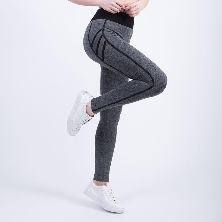 Nessaj 2017 sport legging tinggi pinggang celana gym pakaian olahraga menjalankan pelatihan tights wanita legging olahraga kebugaran yoga celana