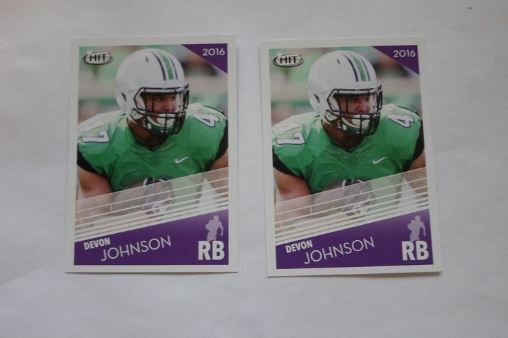 2016 SAGE HIT RC DEVON JOHNSON # 50 ( 2 CARD LOT ( #MARSHALL