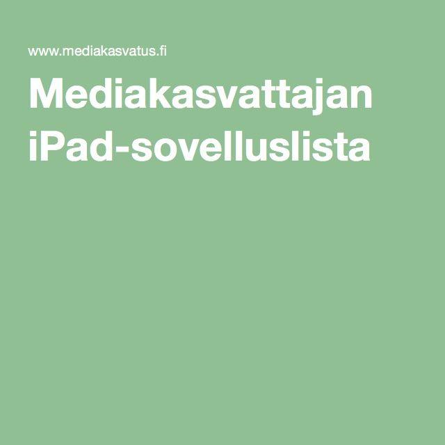 Mediakasvattajan iPad-sovelluslista