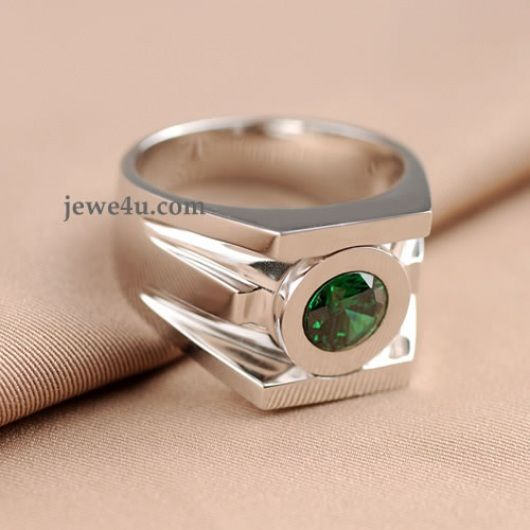 Bestselling 100 Real Solid 925 Sterling Silver 1CT Green Lantern Rings For Men Women Christmas