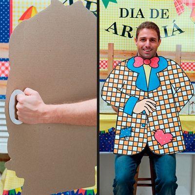 Painel Totem para Foto Menino Festa Junina Cromus