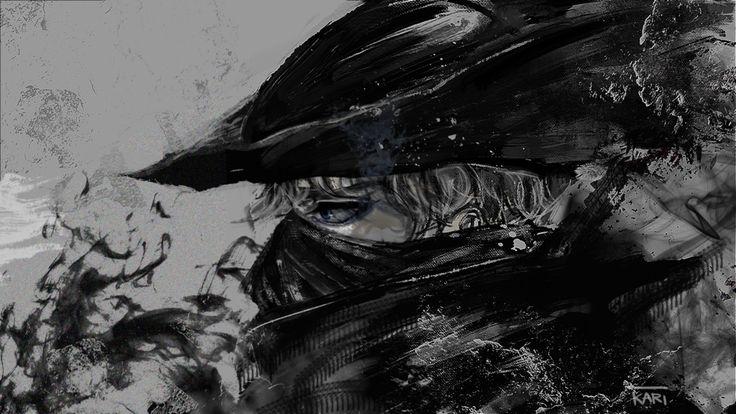 Artsy Fartsy Dark Souls Ii Concept Art: Bloodborne Hunter By Kari1312.deviantart.com On