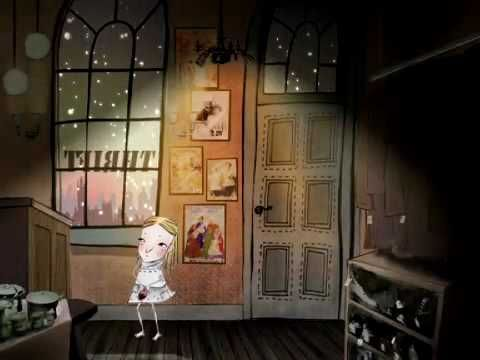 Shoe - Award winning animation short film (2008). This sad but beautiful tale tells the story of a little girl who desperately wanted a doll for Christmas. Her father was poor so made her a doll out of the sole of his shoe.     The actual shoe doll can be found in the Childhood Museum in Edinburgh.