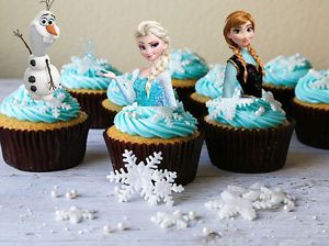 24-x-DISNEY-FROZEN-Elsa-Anna-Olaf-Edible-rice-paper-cup-cake-stand-up-toppers