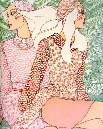 1970s Fashion illustration by Antonio Lopez