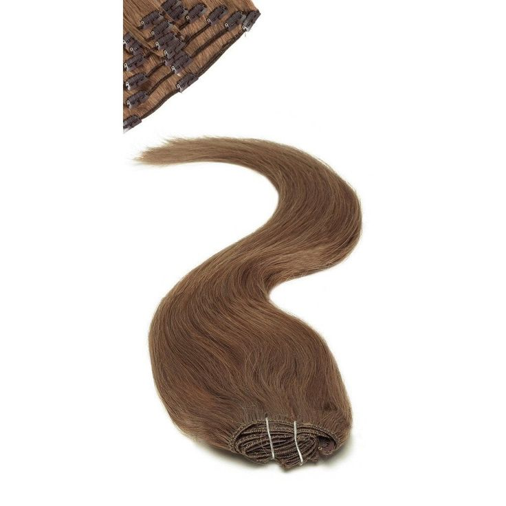 Full Head | Clip in Hair Extensions | 18 inch | Dark Mousey Brown (8b)