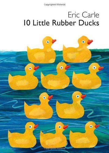 10 Little Rubber Ducks Board Book de Eric Carle http://www.amazon.fr/dp/006196428X/ref=cm_sw_r_pi_dp_4Xwlvb0C3HMQS
