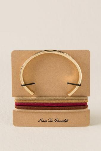 Hair Tie Bracelet in rose gold- Crocker Park