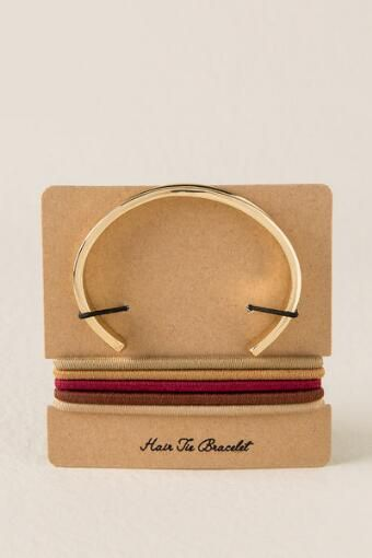 Hair Tie Bracelet in rose gold- Crocker Park