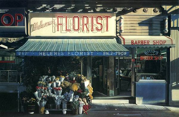 "This was the piece that made me a lover of photo realism. Richard Estes, ""Helene's Florist"""
