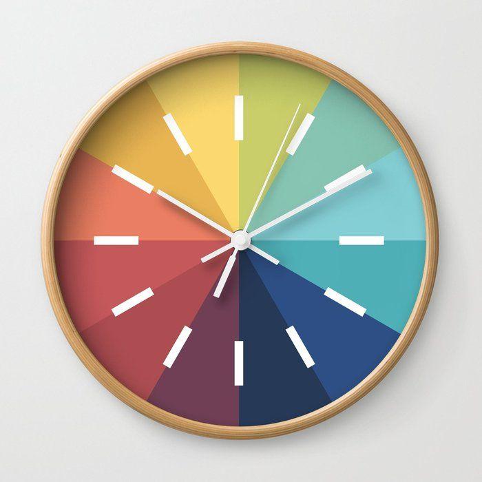 Modern Color Wheel Wall Clock Color Wheel Color Wheel Art Modern Colors