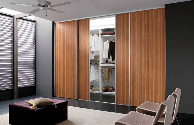 Contemporary Closet Doors For Bedrooms Wonderful Contemporary Bedroom Teak Wood Wardrobe