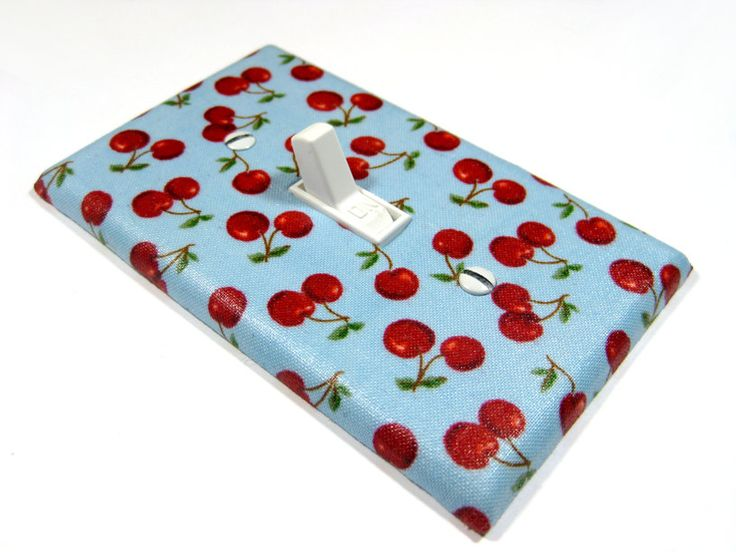 Blue Cherry Kitchen Decor Cherries Light Switch Cover Switchplate Rockabilly Home Decor LAST ONE 121. $6.00, via Etsy.