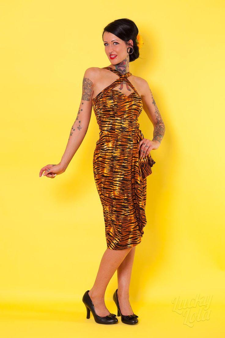 Deadly Dames Tiger Print Dress kaufen - Lucky Lola